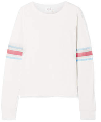 RE/DONE Striped Slub Cotton-jersey Top - Ivory