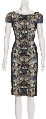 Black Halo Short Sleeve Midi Dress