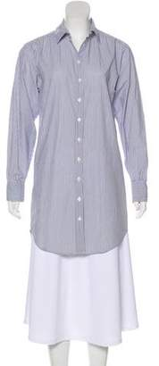 Organic by John Patrick Striped Mini Shirtdress