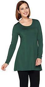 Halston H by Essentials Scoopneck Long SleeveKnit Tunic