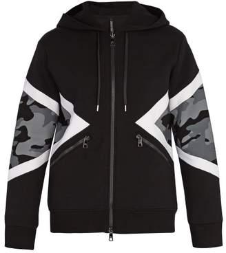 Neil Barrett Camouflage Hooded Sweatshirt - Mens - Black White