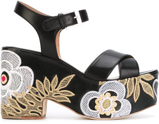 Laurence Dacade Helissa shiny sandals $840 thestylecure.com