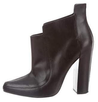 Alexander Wang Leather Pointed-Toe Ankle Booties