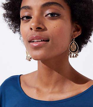 LOFT Filigree Tassel Drop Earrings