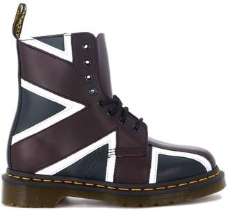 Dr. Martens Pascal Leather Ankle Boots With British Flag