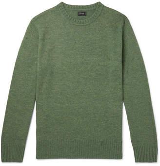 J.Crew Wool-Blend Sweater - Green