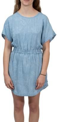 RVCA Printed Chambray Dress