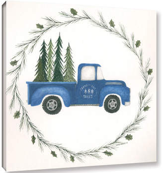Gracie Oaks 'Old Blue Truck' Painting Print on Wrapped Canvas
