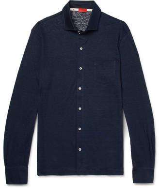 Isaia Slim-Fit Slub Linen-Jersey Shirt
