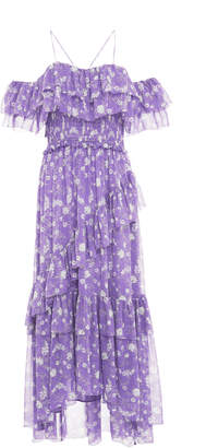 Ulla Johnson Penninah Cold Shoulder Ruffle Dress