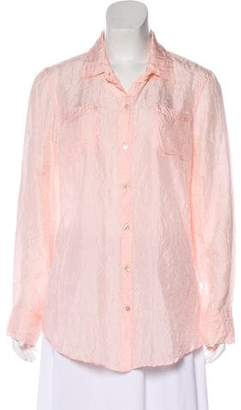 Calypso Silk Button-Up Top