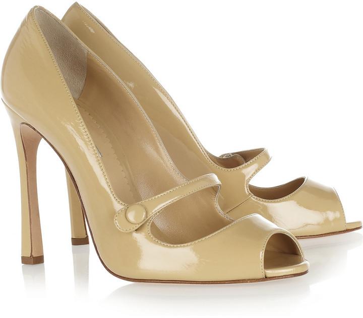 Oscar de la Renta Selma patent-leather pumps