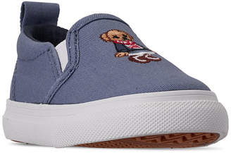 Polo Ralph Lauren Toddler Girls' Carlee Bear Slip-On Casual Sneakers from Finish Line
