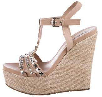 Pura Lopez Leather Platform Wedges