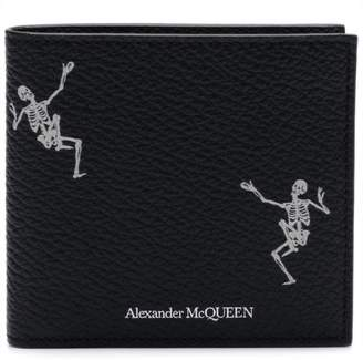 Alexander McQueen studded skull billfold wallet