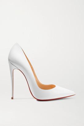 Christian Louboutin (クリスチャン ルブタン) - Christian Louboutin - So Kate 120 Patent-leather Pumps - White