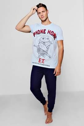boohoo E.T Pyjama Set With Slim Fit Bottoms