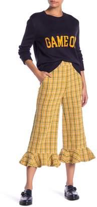 ENGLISH FACTORY Tweed Wide Leg Culotte