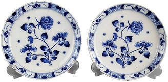 One Kings Lane Vintage 18th-C. Delft Chinoiserie Plates - Set of 2