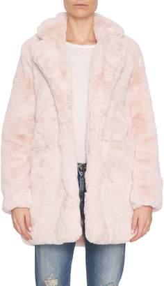 Apparis Sophie Blush Faux Fur Coat