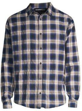The Kooples Plaid Button-Front Shirt