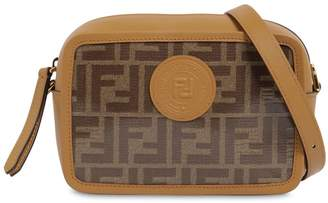 Fendi Logo Printed Canvas / Leather Camera Bag