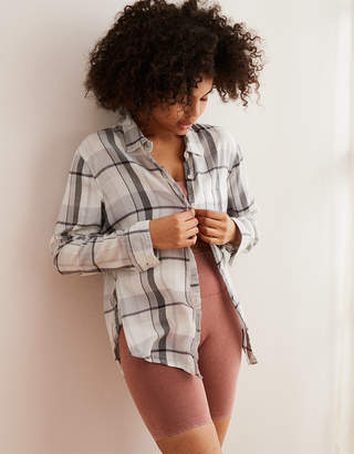 Aerie Camp Flannel Button Down Shirt