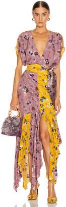 Silvia Tcherassi Drustil Dress in Floral Lavender & Mustard | FWRD