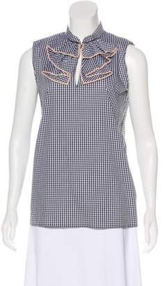 Kartell No. 21 x Sleeveless Gingham Top Black No. 21 x Sleeveless Gingham Top