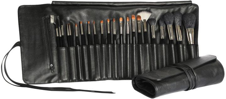 Napoleon Perdis 22-Piece Makeup Brush & Leather Roll Set