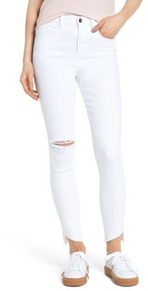 Women's Sp Black Angled Step Hem Skinny Jeans $59 thestylecure.com