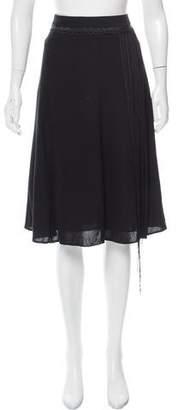 Barbara Bui Fringe-Trimmed Knee-Length Skirt