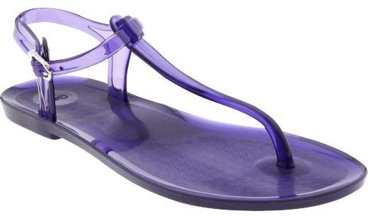 Jelly T-strap sandals