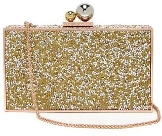 Sophia Webster Clara Crystal Embellished Box Clutch - Womens - Gold Multi