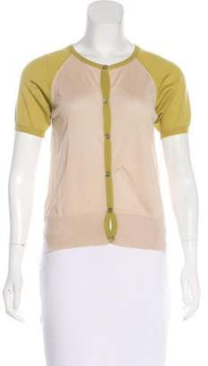 Marni Short Sleeve Cashmere Cardigan