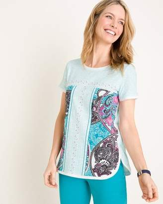 Zenergy Paisley Geometric-Border Top