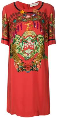 Etro floral print short sleeve dress