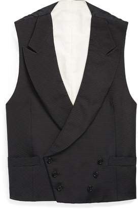Ralph Lauren Double-Breasted Silk Vest