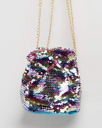 Missguided Mini Sequin Drawstring Bag