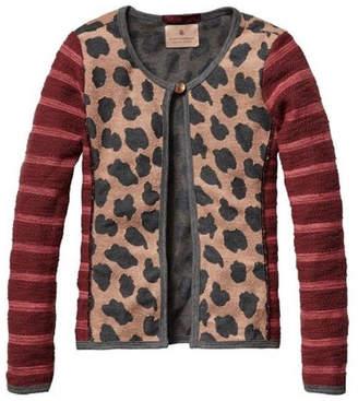 Scotch R'Belle Leopard Quilt Cardigan