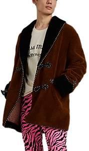 """Gucci Men's """"Chateau Marmont"""" Faux-Fur Oversized Caban Coat - Brown"""