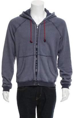 Band Of Outsiders Hooded Zip-Front Sweatshirt