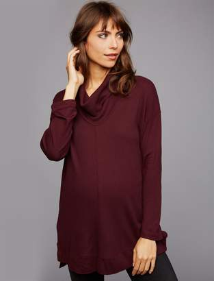 Splendid Pea Collection Cowl Neck Maternity Pull Over