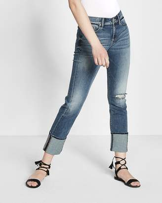 Express Mid Rise Stretch+ Performance Cropped Skinny Jeans
