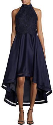 Nicole Miller NEW YORK Embroidered Hi-Lo Dress