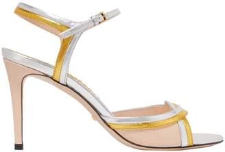 Gucci Metallic Ankle Strap Sandals