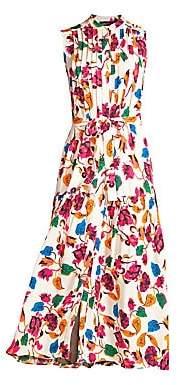 Saloni Women's Remi Sleeveless Floral Belted Dress - Size 0