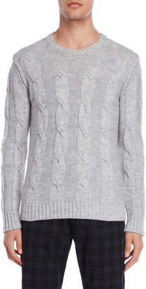 Imperial Star Light Grey Cable Knit Sweater