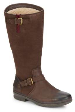 Thomsen UGGpure-Lined Suede & Leather Boots $225 thestylecure.com