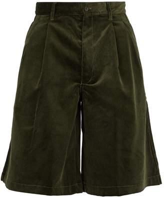 Comme des Garcons Loose-fit corduroy cotton shorts